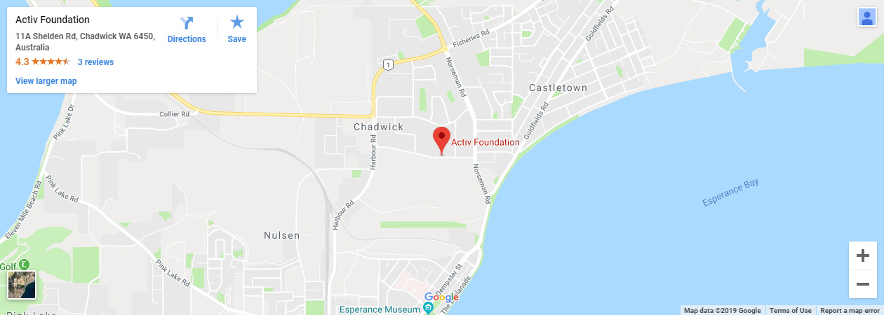 Activ Foundation Esperance Google Map